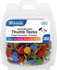 Assorted Color Steel Push Pins Thumb Tacks 38 Inch Flat Head Push Pin