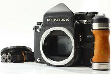【NEAR MINT++】 Pentax 67 TTL Mirror UP Late Model Body + Wood Grip From JAPAN