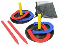 2 Player Kids Horseshoes Game Set Indoor Outdoor With Travel Bag