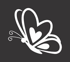 Butterfly Heart 345- Die Cut Vinyl Window Decal/Sticker for Car/Truck
