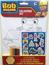 BOB THE BUILDER COLOURING   SET