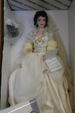 "Franklin Mint KATYA Summer Bride Porcelain Doll 18"" With COA MIB"