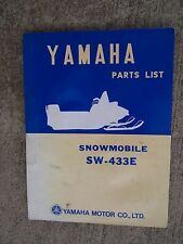 **1970 Yamaha SW-433E Snowmobile Illustrated Parts List MORE SNO-MO IN STORE  V