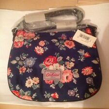 Cath Kidston Forest Bunch Canvas & Leather Cross Body Bag (Navy)