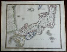 Japan Korea Kyushu Honshu Kesso Tokyo Kyoto 1846 scarce map