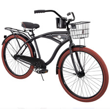 "Huffy 26"" Nel Lusso Men's Cruiser Bike, Matte Black"