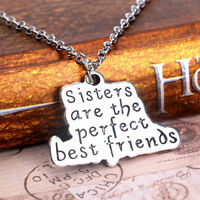 Love Heart Family Chain Pendant Necklace Silver Plated Jewelry Women Men Charm