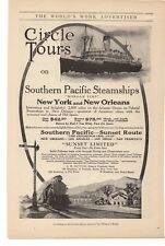 """1914 Southern Pacific Steamships """"Morgan Line"""" L H Nutting Agent Advertisement"""