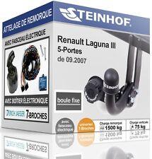ATTELAGE fixe RENAULT LAGUNA III 5-Portes de 2007 + FAIS.UNI.7 broches COMPLET