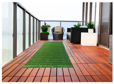 "Artificial Turf Rug Indoor Outdoor Patio Fake Grass Balcony Astro Runner 2'7""x8'"