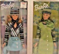 Lot of 2 Mattel Corduroy Cool Barbie Doll Blonde & Brunette NRFB BOX NOT MINT