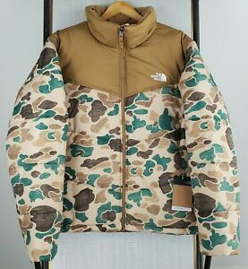 NWT $229 THE NORTH FACE Size XL Mens Duck Frogskin Camouflage Puffer Jacket