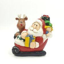 Midwest of Cannon Falls Eddie Walker Santa & Rudolph in Sleigh Music Box Figure