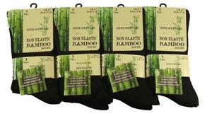 New Ladies Bamboo Non Elastic Loose Top Super Soft Anti Bacterial Socks Size 4/7