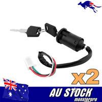 2X Ignition Key Barrel Switch 49cc 70 90 110 125 Cc 150 Dirt Bike Atv Quad Trail