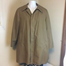 VTG Briarcliff Trench Coat Rain Jacket Brown Zip Liner 42R 42 R Free Shipping!