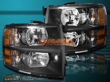 07-13 Chevrolet Silverado 1500 2500HD 3500HD Pickup Black Housing Headlights