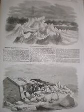 Breaking up of the ice Fredericton New Brunswick Canada 1857 prints and article