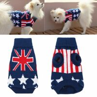 Dog Sweater Union Jack Pet Clothes Dog Cat Puppy Winter Warm Knit Sweaters Coats