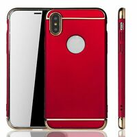Apple IPHONE X Funda Estuche Móvil Funda Protectora Carcasa Estuches, Rojo