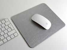 LUXURY SILVER Bonded Leather COMPUTER MOUSEMAT, Mouse Mat, Apple, UK Made