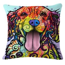 """Colorful Dog Decorative throw pillow(no inner)Cover Cushion Case Cotton Linen18"""""""