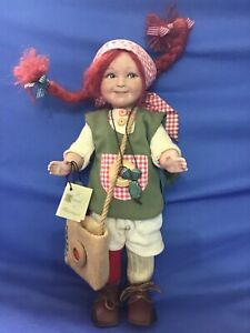 "PIPPI CALZELUNGHE bambola in porcellana "" MONTEDRAGONE Doll Collection """