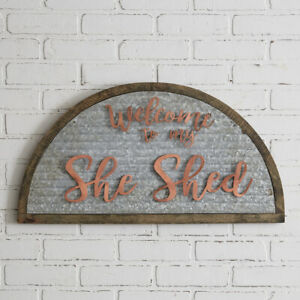 She Shed Galvanized metal wall Sign