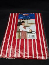 Red chef apron pc lined 100% cotton apron for cooking bbq  etc