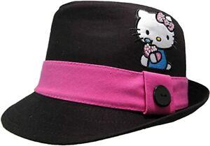 SANRIO Hello Kitty Girls Black Fedora Hat