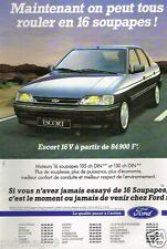 Publicité advertising 1992 Ford Escort 16 V