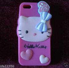New 3D Soft Sanrio Hello Kitty Sillicone Frame case cover for iphone 5