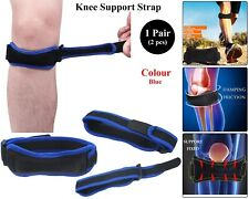 Adjustable Knie Support Brace Strap Patella Pees Runner Reliëf Pijn Blue Pair