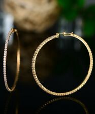 Sevil 18K Gold Plated Large Hoop Earrings Made With Swarovski Elements