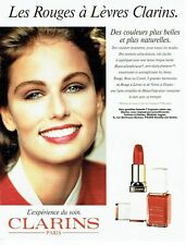 Publicité Advertising 087  1992  Clarins maquillage rouge à lèvres vernis ongle