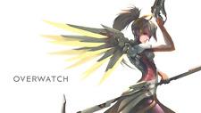 Video Game Overwatch Mercy Silk Poster Wallpaper 24 X 13 inch