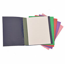 3 x Protective School Exercise Book Covers Slip On A5+ Ready Made Jacket Colors