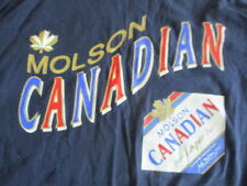 Vintage Waves Label - MOLSON CANADIAN Biere Lager Beer (LG) T-Shirt