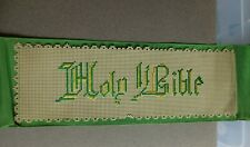 More details for victorian bookmark embroidered punched card holy bible bristol board large !