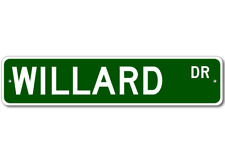 WILLARD Street Sign - Personalized Last Name Sign