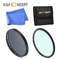 K&F Concept Filter 77mm HD Protection UV MCUV  Variable Neutral Density ND 2-400