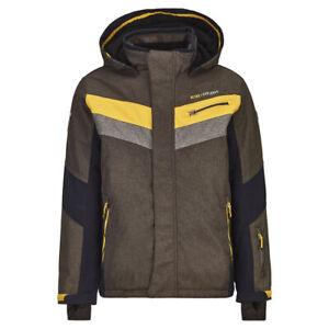 Boys' KILLTEC Taner Junior Jacket ANTHRACITE MELANGE Hooded Ski Snowboard Coat