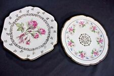 "MITTERTEICH BAVARIA 2 Salad Plates 7.5"" Octagonal Floral ROSES MORNING GLORIES"