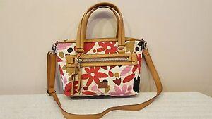 NWT Fossil Dawson Pink Floral Fabric Satchel Crossbody Handbag Multi Color $148
