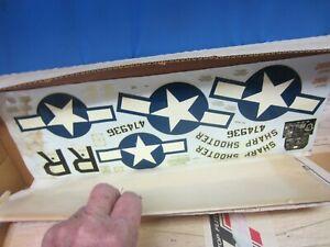 """VINTAGE, TOP FLITE NORTH AMERICAN MUSTANG, 1"""" SCALE, U/C KIT, NEW IN BOX #S-3"""