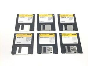 """Vintage Norton / Symantec floppy disks for Macintosh 3.5"""" NDD v3.2 1994 6 Discs"""
