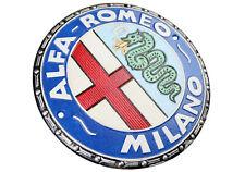 Alfa Romeo Milano Car Logo - Cast Iron Sign Plaque