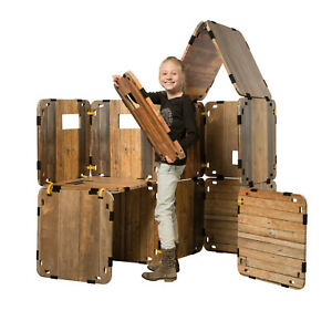 KARTON FORT Haus Festung Kartonhaus Kinder spielen bauen Pappe Spielhaus drinnen