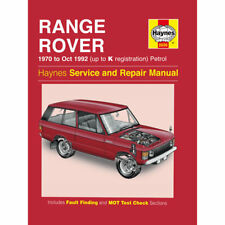 Range Rover V8 3.5 3.9 Essence 1970-92 (jusqu 'à K REG) Haynes Manuel