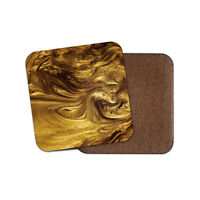 Liquid Gold Coaster - Metallic Shimmer Luxury Daughter Mum Gran Girl Gift #15302